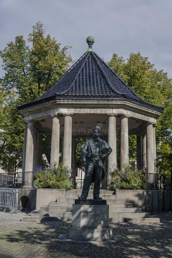 Statue of Johan Halvorsen, Oslo, Norway stock photography