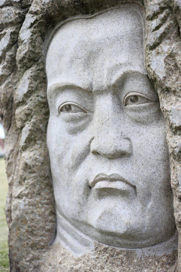 Statue of johann sebastian bach. The stone statue of johann sebastian bach royalty free stock image
