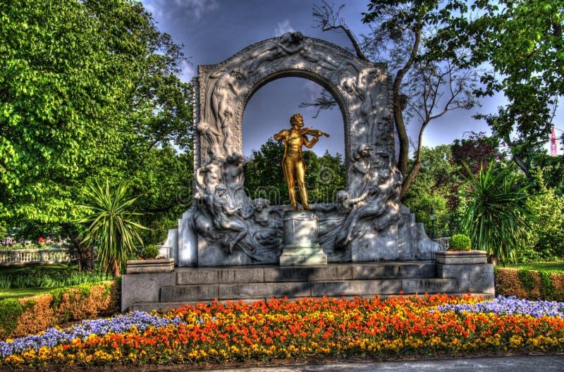 Statue of johann strauss royalty free stock image