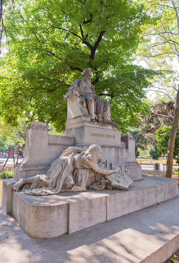 Statue of Johannes Brahms (1908) in Vienna, Austria royalty free stock image