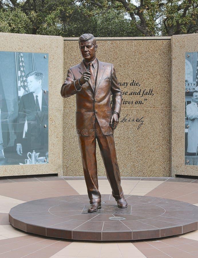 JFK, Statue of John Fitzgerald Kennedy stock photo