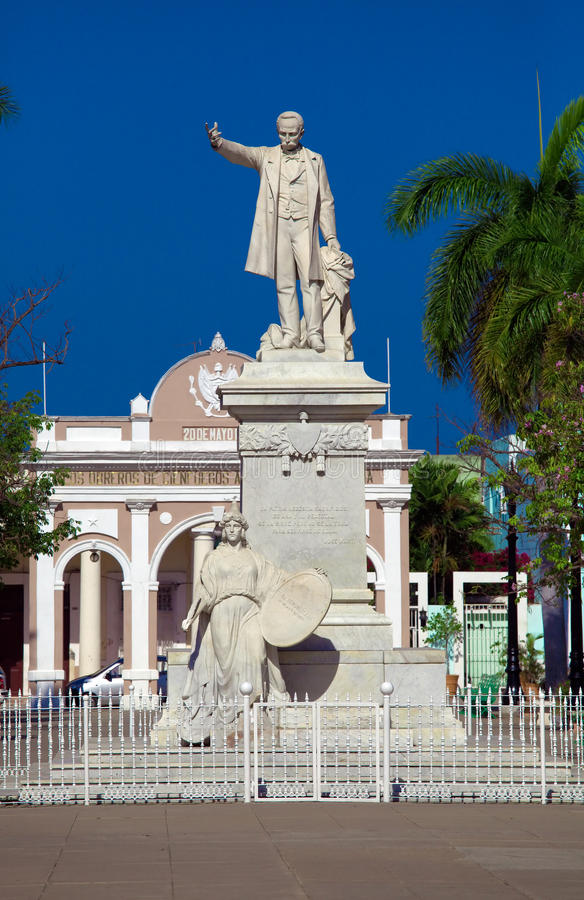 Download Statue Jose Marti stock image. Image of view, town, building - 26693443