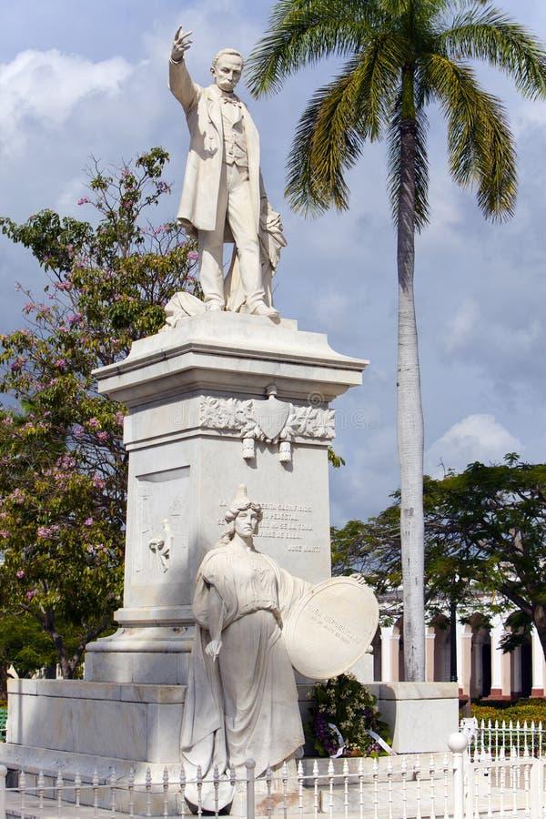 Statue of Jose Marti in in Jose Marti Park. Cuba. Cienfuegos stock images