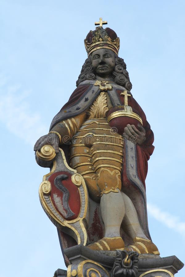 Statue Josephs I am Marktbrunnen in Aalen, Deutschland stockfoto