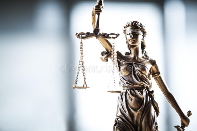 Statue of justice. The Justice concept close up view stock photos