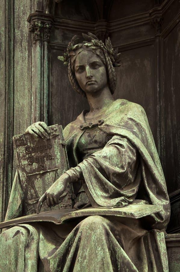 Corpus Juris Statue stock photography