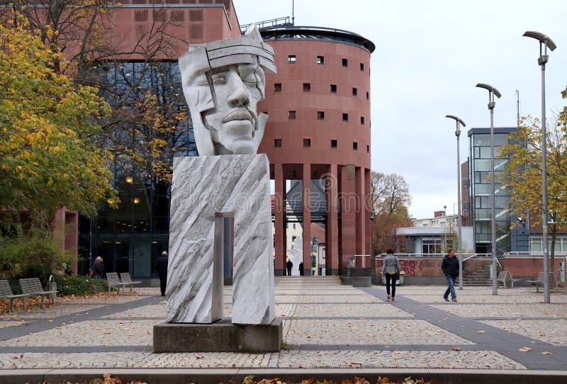 Statue in Kaiserslautern, Deutschland lizenzfreies stockbild