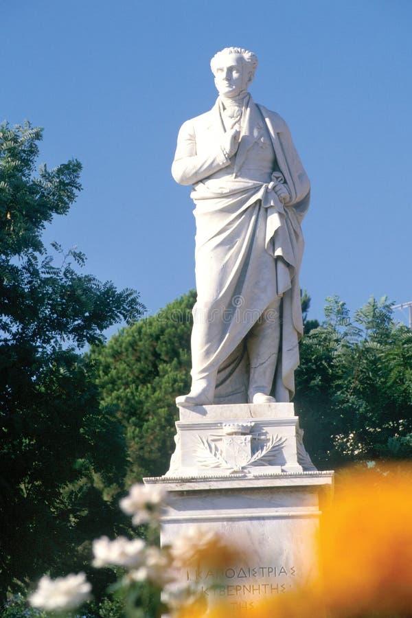 Statue of kapodistrias stock photo