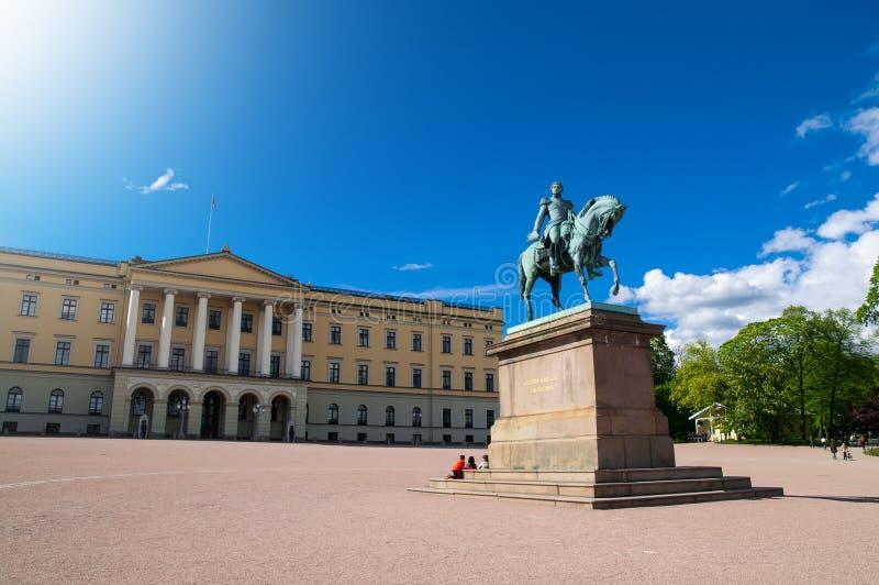 Statue of King Carl XIV Johan in Oslo, Norwa royalty free stock photos