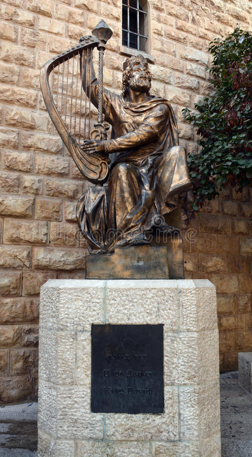 Statue of King David stock photo