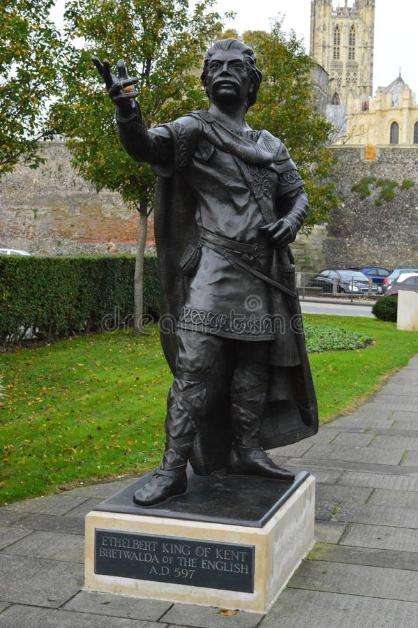 Statue of king Ethelbert stock photography