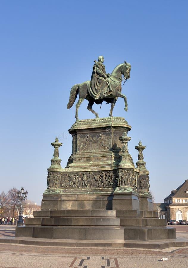 Statue of King Johann (1801-1873) in Dresden stock photography