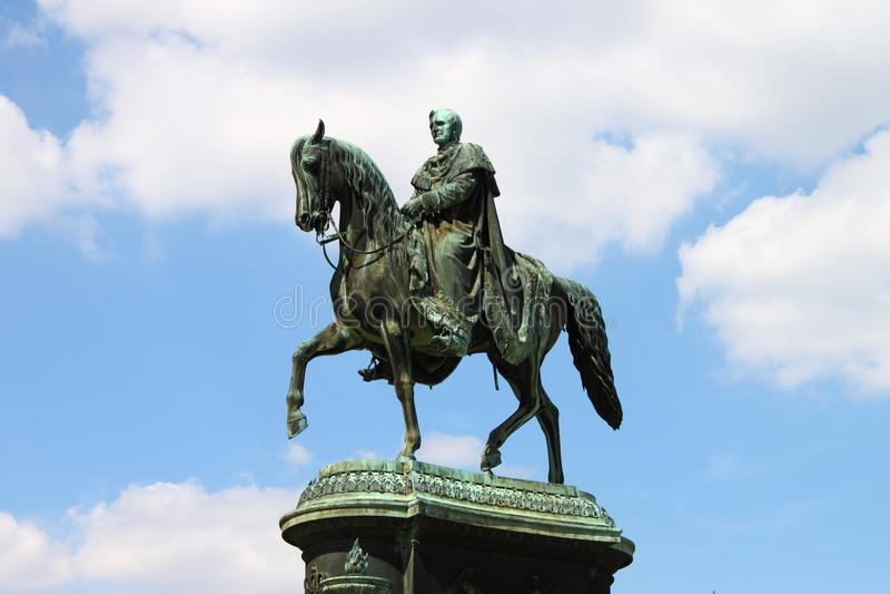 Statue of King Johann stock image