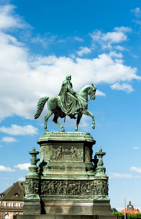 Statue of King John in Dresden. Statue of King John made by Shilling on Theatre Square in Dresden, Germany stock images