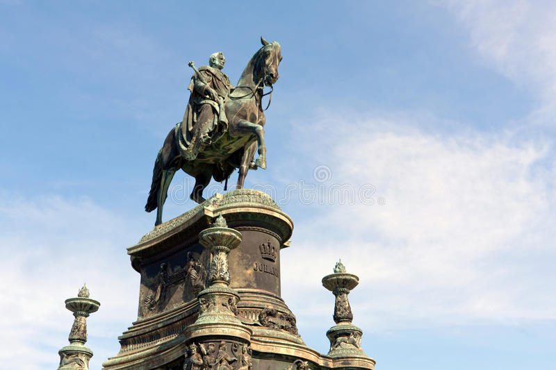Statue of King John of Saxony. In Dresden, Germany royalty free stock images