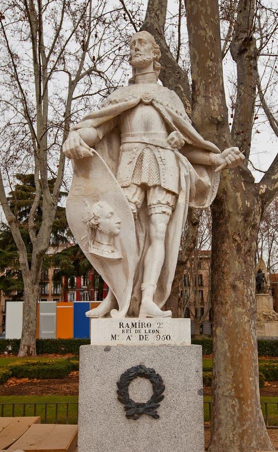 Statue of King Ramiro II (circa 1753). Madrid, Spain royalty free stock image