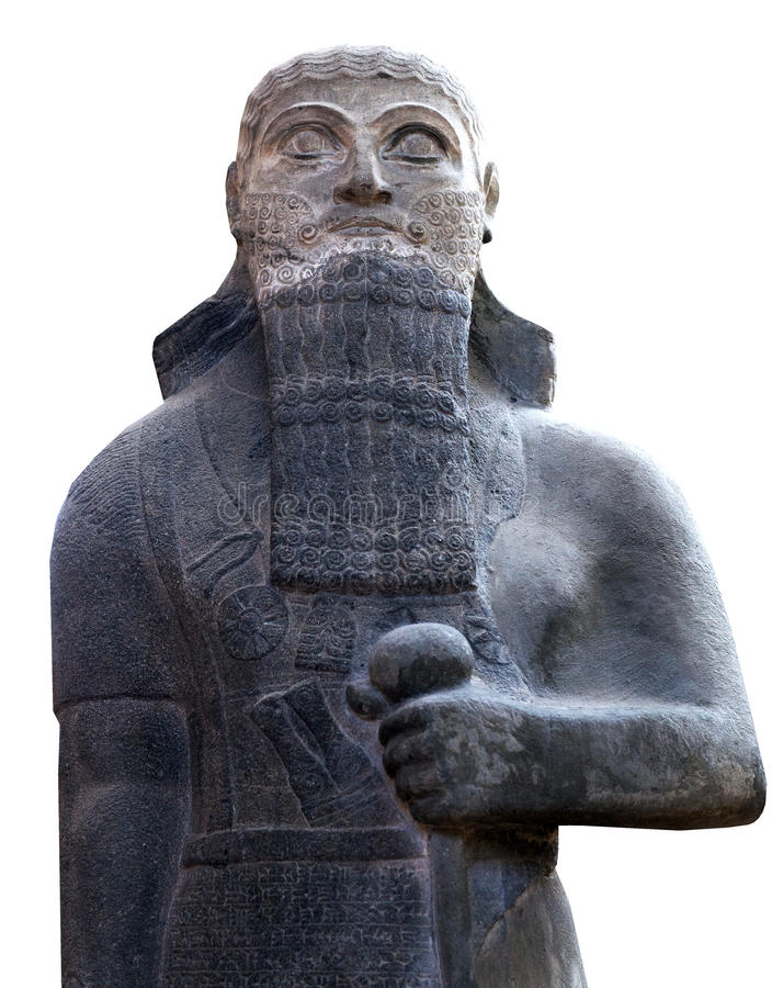 Statue of a king Shalmaneser III in Istanbul, Turkey. Statue of a king Shalmaneser III (858-824 B.C.) of Neo-Assyrian Period in the Istanbul Archaeology Museum royalty free stock photo