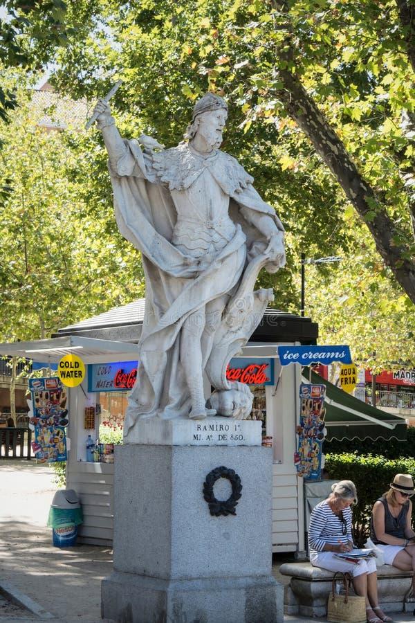 Statue king of Spain Ramiro 1 royalty free stock photo