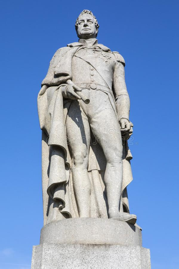 Statue of King William IV in London. A statue of King William IV in Greenwich, London, UK stock photography