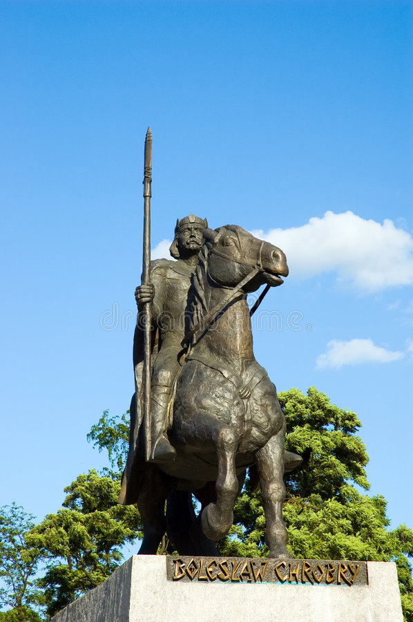 Statue king Wroclaw Poland stock image