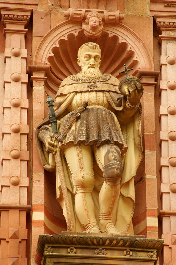Statue of Knight of Heidelberg Castle stock images