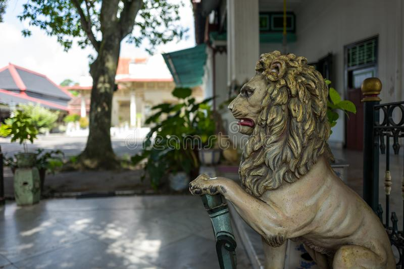 A statue in the Kraton Palace in Yogyakarta stock images