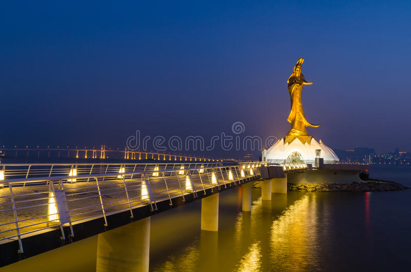 Statue of kun iam macau famous landmark of macao china royalty free stock photo