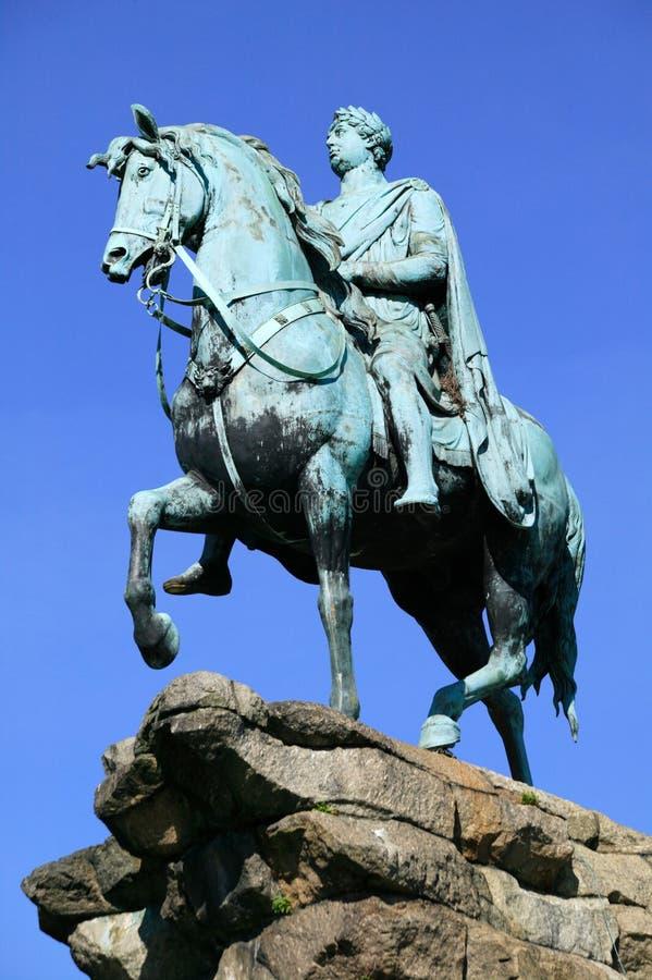 Statue (kupfernes Pferd) Windsor Nennwert George-III lizenzfreie stockfotografie