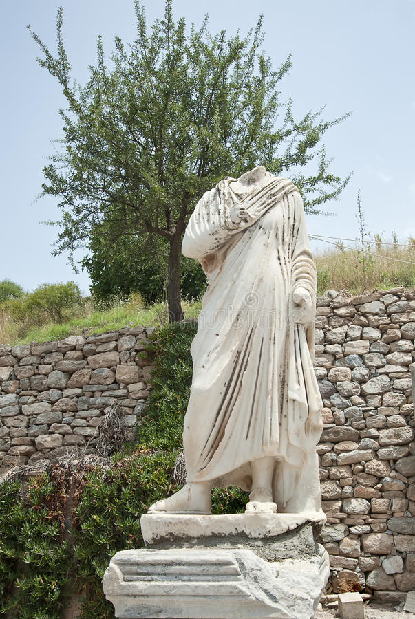 Download A Statue On Kuretes Street In Ephesus, Turkey Stock Image - Image: 36863681