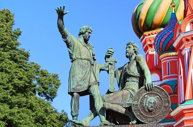Statue of Kuzma Minin and Dmitry Pozharsky royalty free stock photography