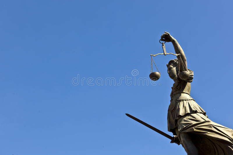 Statue of Lady Justice royalty free stock image