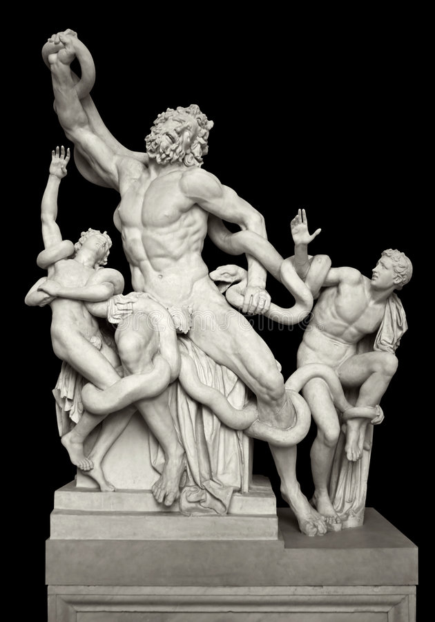 Statue of Laocoon and His Sons royalty free stock photography