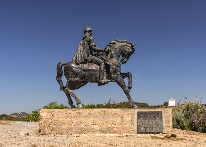 Lbn Qasi Statue in Mertola, Alentejo Region of Portugal. The statue of lbn Qasi near Mertola Castle. Abu-l-Qasim Ahmad ibn al-Husayn ibn Qasi was governor of stock photography