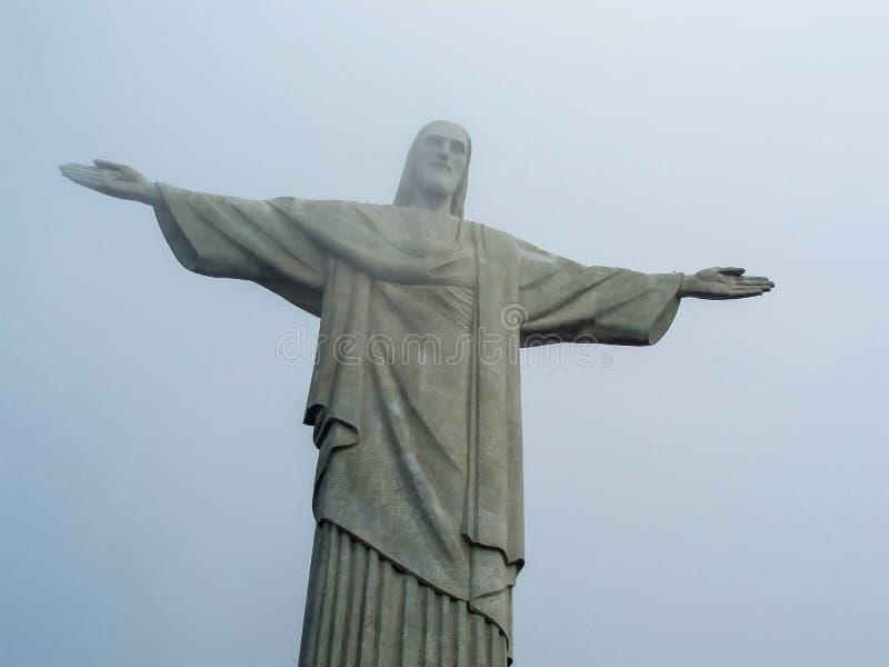 Statue le Christ le rédempteur à Rio image libre de droits
