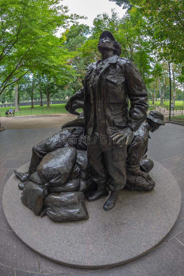 Statue of Legacy of healing and hope in Vietnam Women`s Memorial stock images