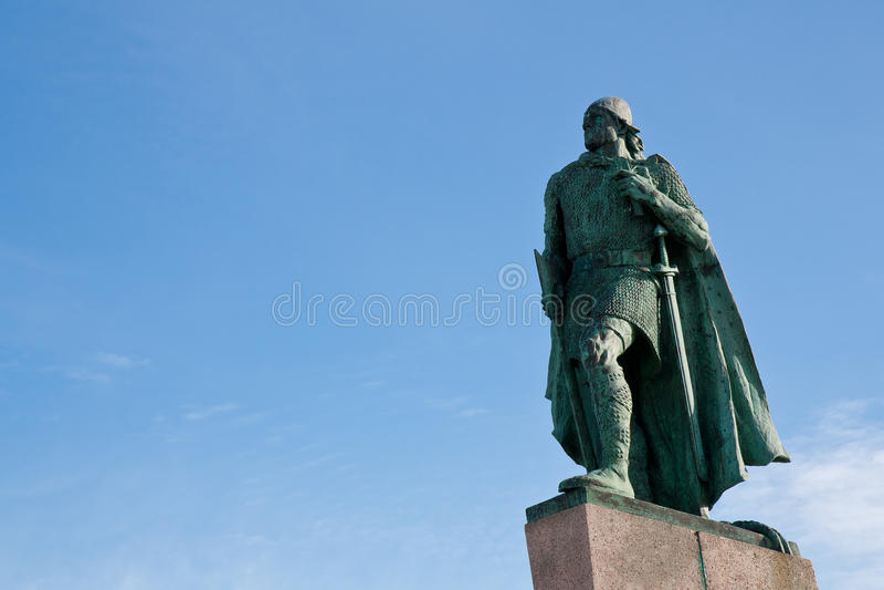 Statue of Leif Ericson, Reykjavik stock photos