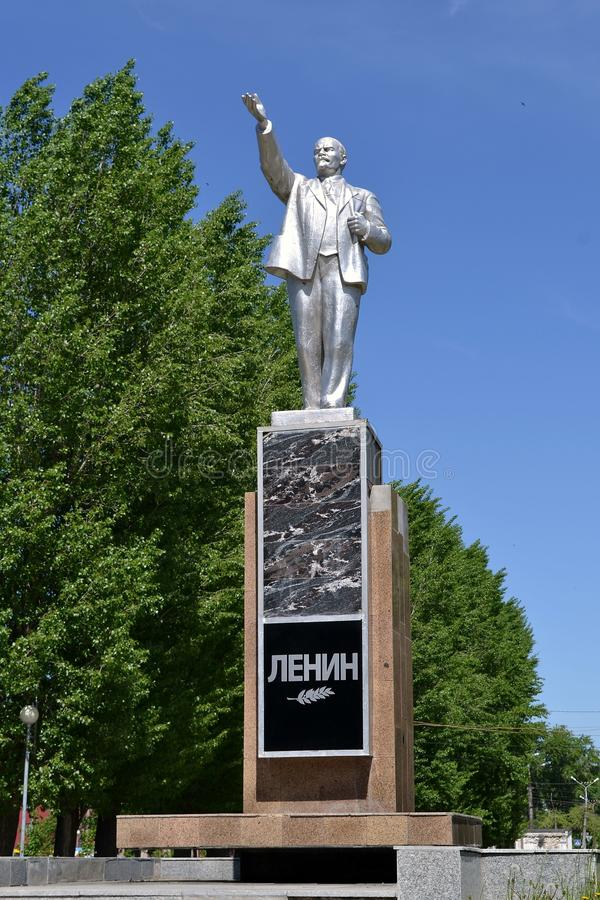 A statue of Lenin in the Park Tolyatti. The image created by Alekseev G. D.. after a meeting with Lenin in November 1918. In 1924, the government`s Commission to stock photo