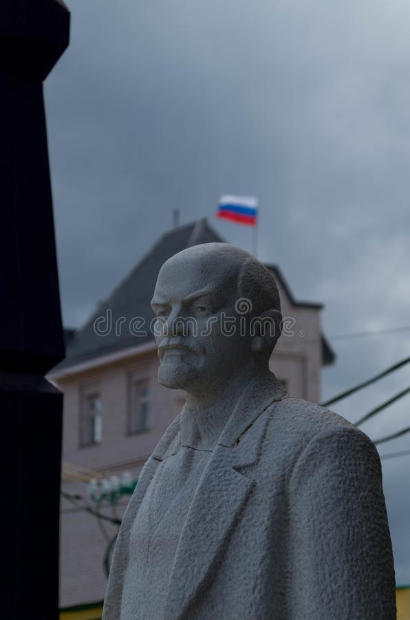 Statue of Lenin in plaster royalty free stock images