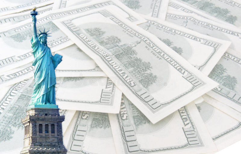 Download Statue Of Liberty On 100 Us Dollars Background Stock Image - Image: 7083079