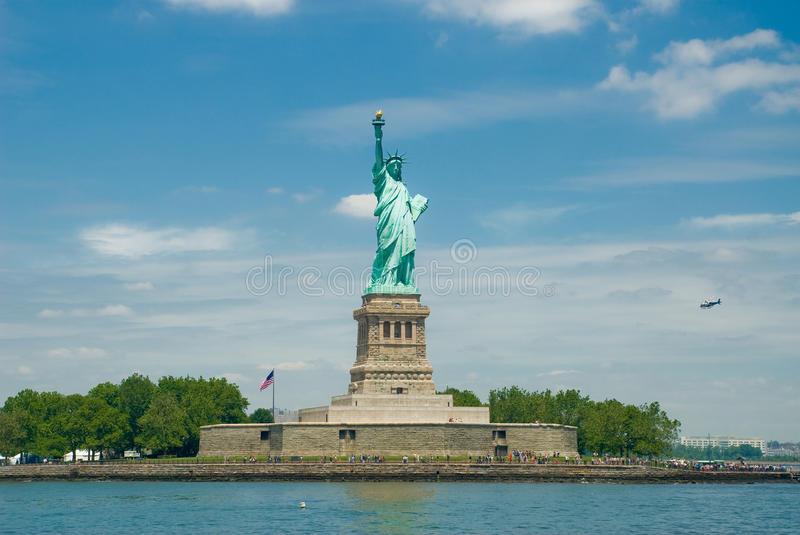 Download Statue of Liberty stock photo. Image of liberty, flag - 12434918