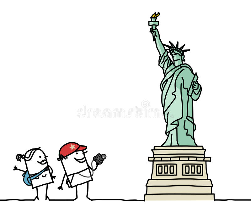 Download Statue of Liberty stock vector. Image of sketch, architecture - 14857161