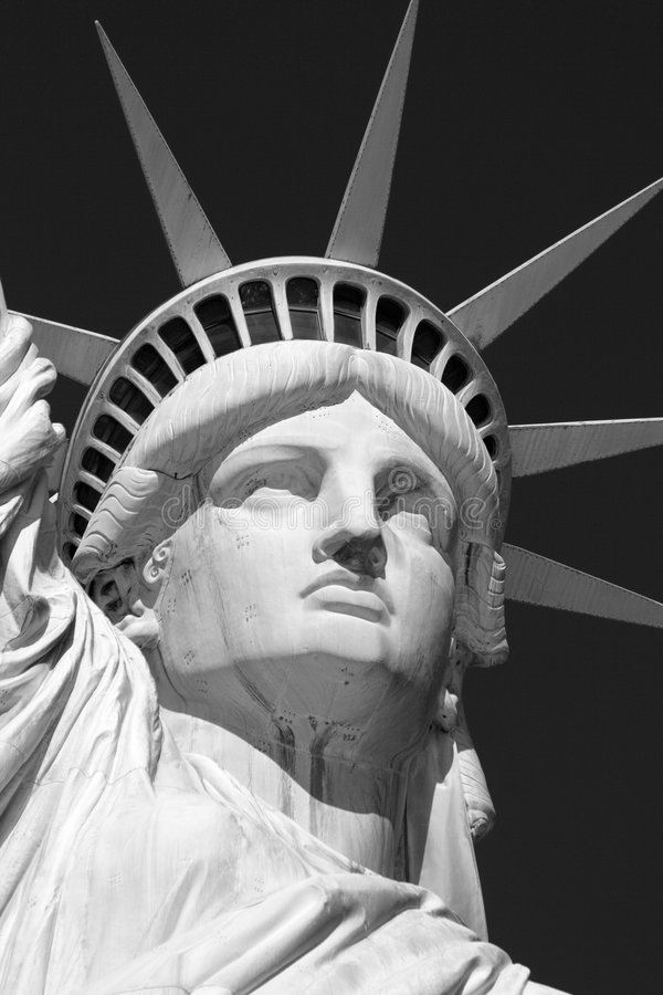 Statue of Liberty. Black and White Image of the Statue of Liberty royalty free stock image