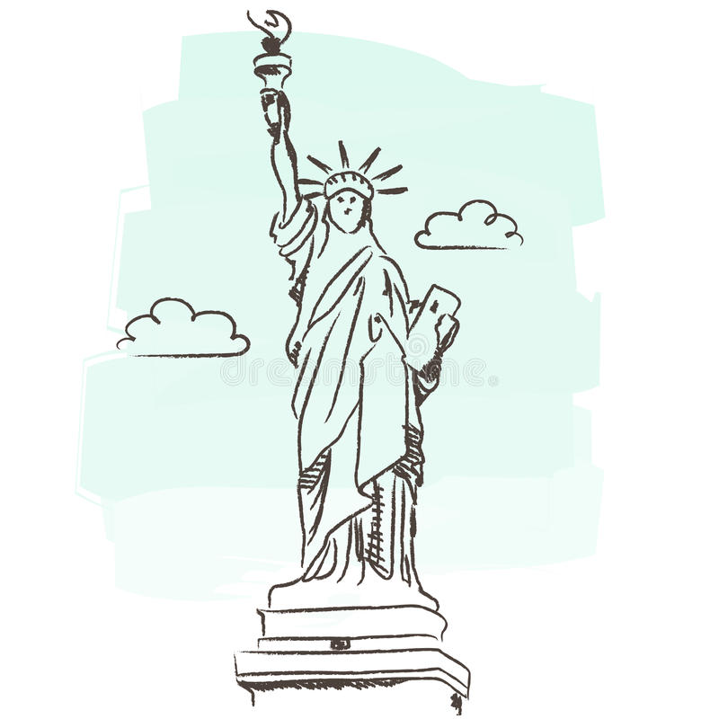 Statue of liberty vector. Illustration of Statue of Liberty isolated + vector eps file royalty free illustration