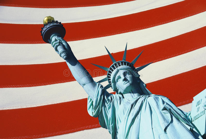 Download Statue of Liberty stock photo. Image of flag, composite - 23160924