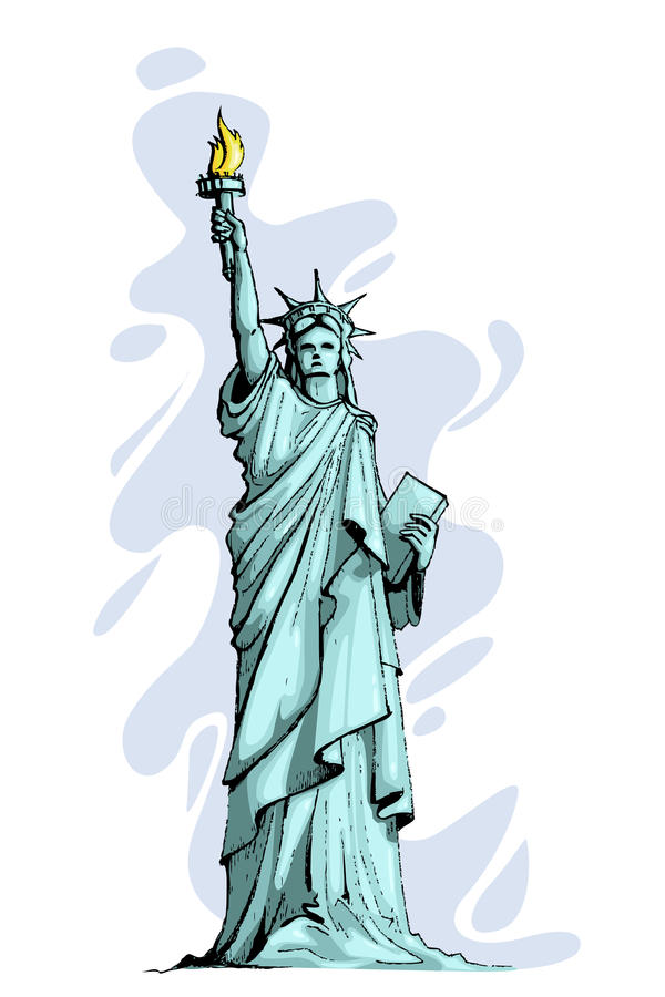 Download Statue of Liberty stock vector. Image of freedom, architecture - 23970864