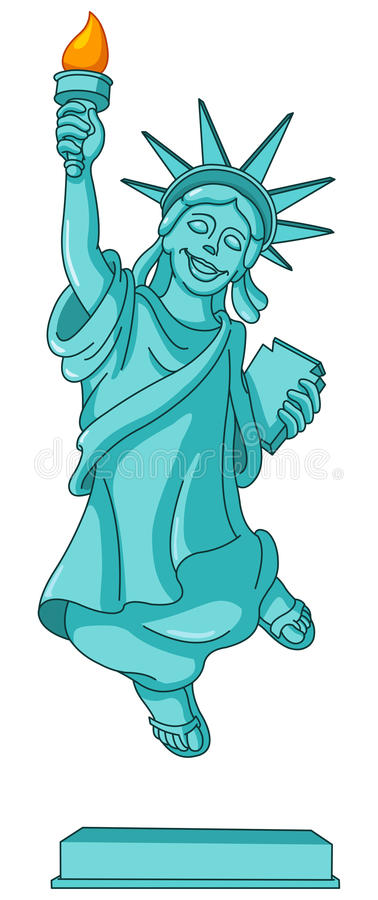 Download Statue of liberty stock vector. Image of democracy, isolated - 24823812
