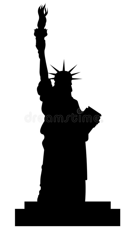 Statue of liberty. Silhouette vector file