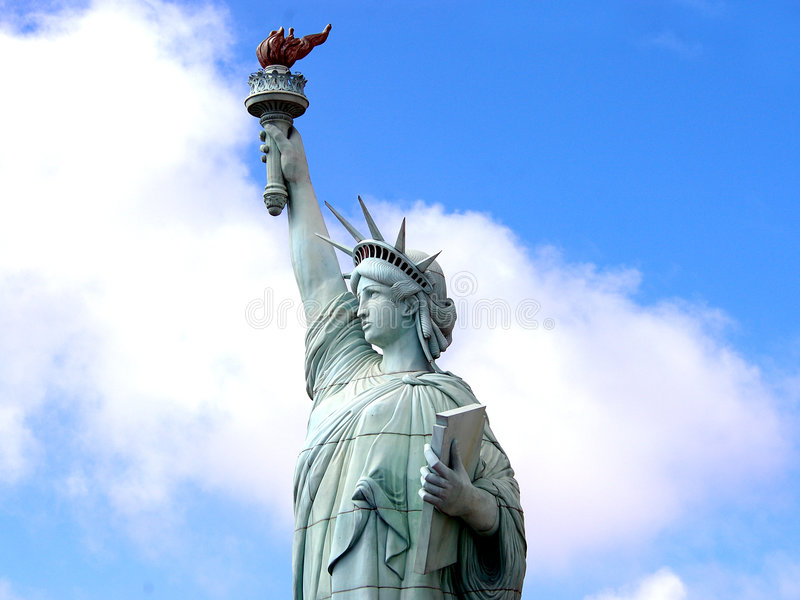 Download Statue Of Liberty stock photo. Image of finger, blue, flame - 76656