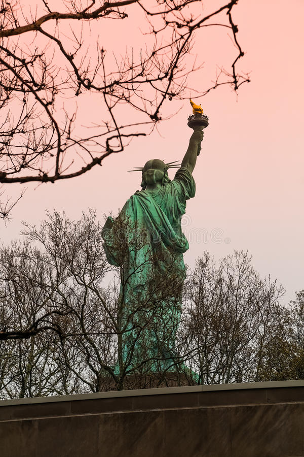 Statue of liberty back stock image