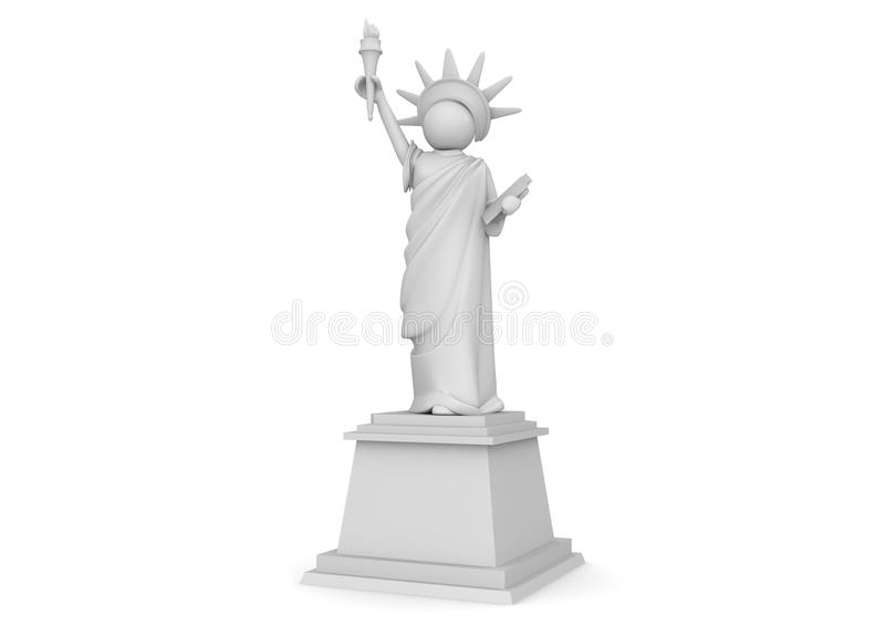Download Statue Of Liberty Cartoon - 3D Characters Stock Image - Image: 15928711